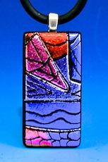 Fused Picasso Dichoric Pendant