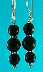 Black oynx earrings