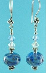 Blue flamework earrings
