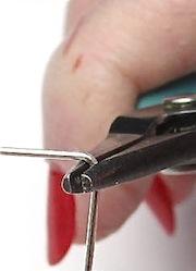 Eye pin right angle bend