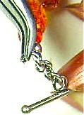 fitting toggle bar to bracelet