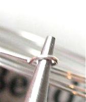using pliers to bend loop in memory wire