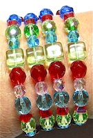 memory wire glass bead bracelet