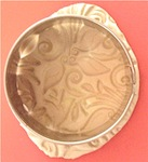 metal clay cut with circle cutter