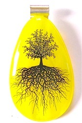 Yellow   Pendant Black Tree Decal