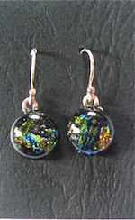 Rainbow Fused Glass Dichroic Earrings