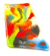 vivid powder fused glass