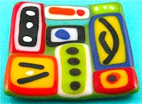 Fused Glass Abstract Plate