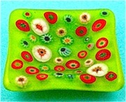 Millefiori Glass Plate