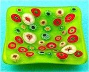 Millefiori Glass Plate