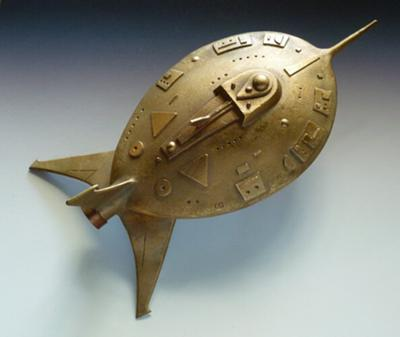 Bronze Clay Spaceship