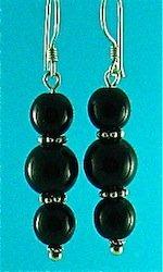 Black oynx earrings