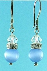 Fibre optic earrings