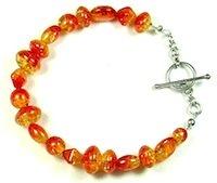completed crackle bead bracelet