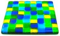 Mosaic glass coaster