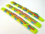 fused glass pattern bar slices