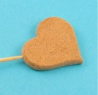 cork clay heart cut with shape cutter