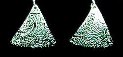 draped metal clay earrings